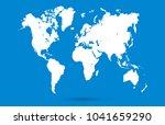 color world map vector | Shutterstock .eps vector #1041659290
