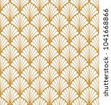 seamless geometric art deco... | Shutterstock .eps vector #1041668866