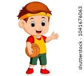 vector illustration of kid... | Shutterstock .eps vector #1041676063
