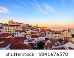 view of alfama in lisbon... | Shutterstock . vector #1041676570