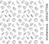 seamless travel icons pattern...   Shutterstock .eps vector #1041677536