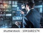 additional device. smart...   Shutterstock . vector #1041682174