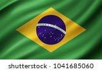 brazil flag in vector... | Shutterstock .eps vector #1041685060
