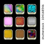 buttons on black  10eps. | Shutterstock .eps vector #104168546