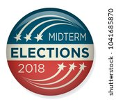 retro midterm elections vote  ... | Shutterstock .eps vector #1041685870