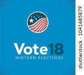 election header banner w  vote    Shutterstock .eps vector #1041685879