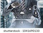 technology process system...   Shutterstock . vector #1041690133