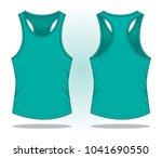 turquoise tank top vector | Shutterstock .eps vector #1041690550
