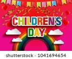happy children s day...   Shutterstock .eps vector #1041694654