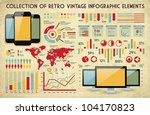 retro vector set of infographic ... | Shutterstock .eps vector #104170823
