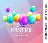 modern easter greeting card... | Shutterstock .eps vector #1041709108