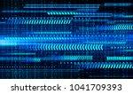 binary circuit board future... | Shutterstock .eps vector #1041709393