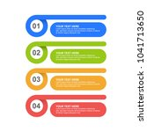 infographic template with four... | Shutterstock .eps vector #1041713650