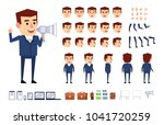 businessman character in blue... | Shutterstock .eps vector #1041720259