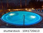elegant empty water pool with... | Shutterstock . vector #1041720613
