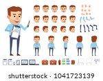 businessman character in blue... | Shutterstock .eps vector #1041723139