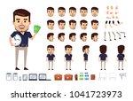 stylish businessman character...   Shutterstock .eps vector #1041723973