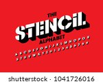 vector of bold stencil font and ... | Shutterstock .eps vector #1041726016