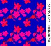 boho pattern. watercolor... | Shutterstock . vector #1041727180