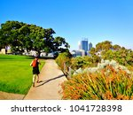 Runner On Path In Kings Park...
