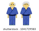 old man and woman with yukata a ...   Shutterstock .eps vector #1041729583