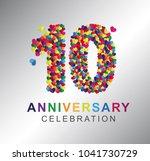 10th anniversary design... | Shutterstock .eps vector #1041730729