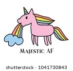 vector illustration of majestic ... | Shutterstock .eps vector #1041730843