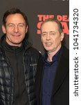 Small photo of New York, NY - March 8, 2018: Jason Isaacs and Steve Buscemi attend New York premiere of IFC Film Death of Stalin at AMC Lincoln Square