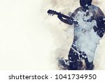 Abstract Beautiful Man Playing...