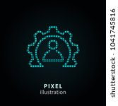 conference   pixel icon. vector ... | Shutterstock .eps vector #1041745816