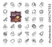 nuts  seeds and beans elements  ... | Shutterstock .eps vector #1041747553
