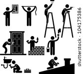 handyman electrician locksmith... | Shutterstock .eps vector #104175386