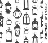 seamless vector pattern   black ... | Shutterstock .eps vector #1041765310