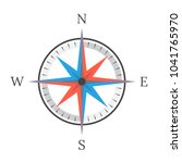 compass on a white background....   Shutterstock .eps vector #1041765970