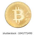 high res isolated bitcoin on a... | Shutterstock . vector #1041771490