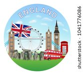 england circle logo with... | Shutterstock .eps vector #1041776086