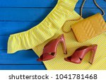 womens clothing  accessories ... | Shutterstock . vector #1041781468