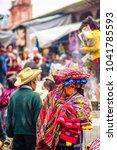 indigenous maya market in... | Shutterstock . vector #1041785593