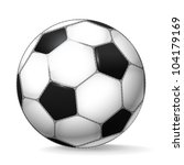 classic football ball isolated... | Shutterstock .eps vector #104179169