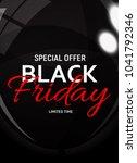 black friday sale banner... | Shutterstock . vector #1041792346