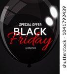 black friday sale banner... | Shutterstock . vector #1041792439