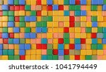 toy multicolored cubes. 3d...   Shutterstock . vector #1041794449