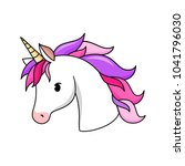 unicorn vector icon isolated on ... | Shutterstock .eps vector #1041796030