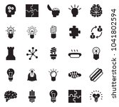 solid black vector icon set  ... | Shutterstock .eps vector #1041802594