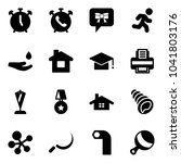 solid vector icon set   alarm... | Shutterstock .eps vector #1041803176