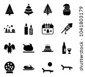 solid vector icon set  ... | Shutterstock .eps vector #1041803179