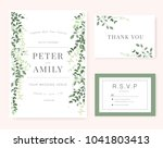 wedding invitation card green... | Shutterstock .eps vector #1041803413