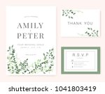 wedding invitation card green... | Shutterstock .eps vector #1041803419