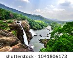 at the edge of the athirapally... | Shutterstock . vector #1041806173
