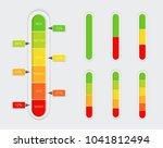 color coded progress  vertical... | Shutterstock .eps vector #1041812494
